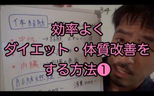 効率よくダイエット・体質改善する方法1/3